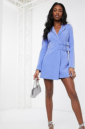 4th + Reckless Tall exclusive double belted blazer dress in blue