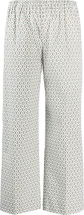 Ql2 Quelledue patterned straight trousers - White