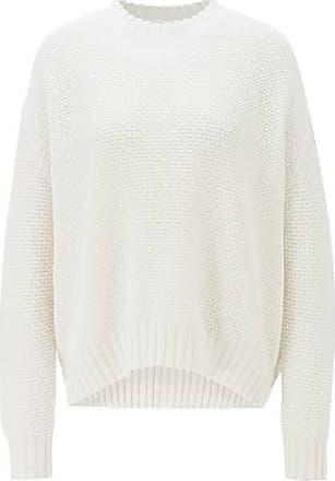 BOSS Oversized Pullover aus Baumwolle mit Struktur-Mix