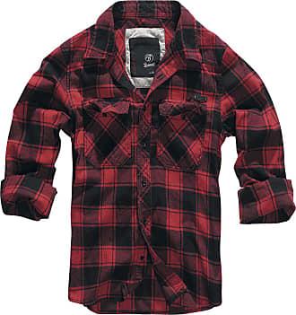8eb096a90709 Brandit Checkshirt - Herr-Flanellskjorta - röd|svart