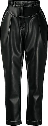 Philosophy di Lorenzo Serafini high-waisted faux leather trousers - Black