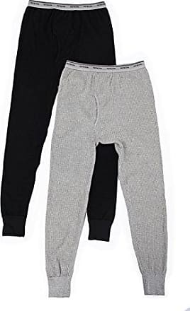Fruit Of The Loom Mens Classic Midweight Waffle Thermal Underwear Bottoms (1 &2 Packs), Light Grey Heather/Black Soot, 5X-Large