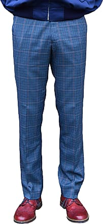 Relco Blue Tweed Sta Press Trousers Sizes 30-40 Available (30)