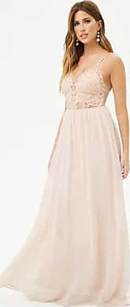 Forever 21 Forever 21 Embroidered Chiffon Gown Blush