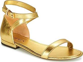 a10e0f3953c229 Lauren Ralph Lauren Davison Sandalen Sandaletten Damen Gold - 41 - Sandalen  Sandaletten
