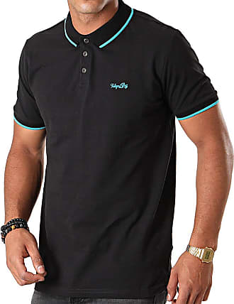 Tokyo Laundry Noel Cotton Pique Polo Shirt in Jet Black S