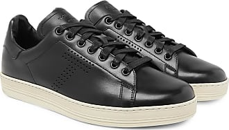 Tom Ford Warwick Perforated Leather Sneakers - Black