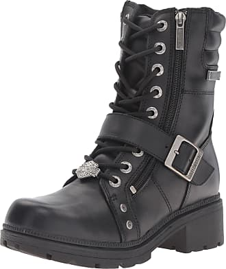 Harley-Davidson Harley-Davidson Womens Talley Ridge Motorcycle Boot, Black, 6.5 M US