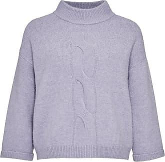 Damen Langarm V-Ausschnitt Strickpullover Strickwaren Pulli Pullover Longshirt L