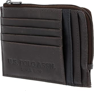 U.S.Polo Association U.S. POLO ASSN. Wellborn Zipped Credit Card Holder Grey/Blue
