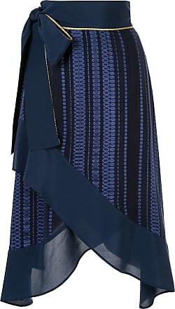 Zeus + Dione high waisted wrap skirt - Blue
