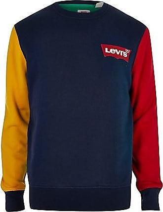 Levi's Mens Levis navy color block sweatshirt
