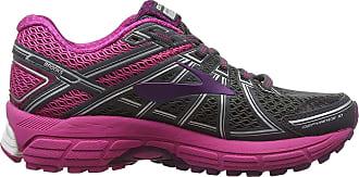 Brooks Womens Defyance 10 Running Shoes, Multicolour (Ebony/Pink/Plum 091), 5.5 UK