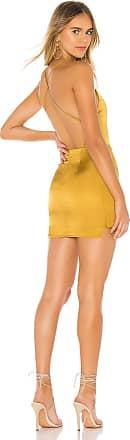 Superdown Lola Mini Dress in Metallic Gold