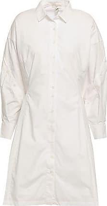Joie Joie Woman Darcila Button-detailed Cotton-poplin Mini Shirt Dress Ivory Size S
