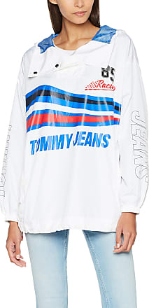 Tommy Jeans Womens Racing Popover Jacket, White (Bright White 113), X-Small