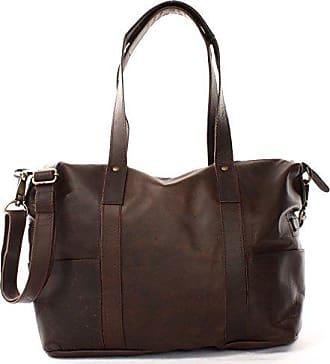 ce1aa620d8ba37 Leconi Shopper Vintage-Look Damen Henkeltasche Schultertasche Echt-Leder  Natur Damentasche Ledertasche Umhängetasche Handtasche
