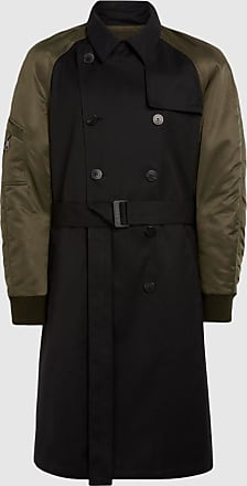 Neil Barrett Travel Bomber Sleeve Tech Cotton Trench Coat