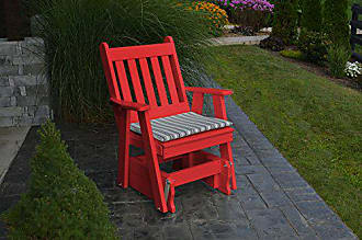 A & L Furniture A & L Furniture Poly Traditional English Gliding Chair, Bright Red