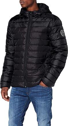 Only & Sons Mens Onssteven Quilted Hood Jacket OTW Noos, Black (Black Detail: Solid), X-Large