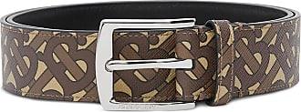 Burberry monogram e-canvas belt - Brown