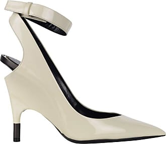 60b09302565 Tom Ford Womens White Patent Leather Ankle Covered Heel Pumps It39.5 us9.