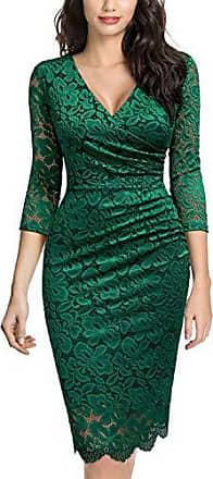 MIUSOL Damen Elegant Business Cocktailkleid Party Kleid Knielanges Etuikleid /Ärmellos Rockabilly Abendkleider