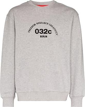 032c Suéter com logo bordado - Cinza