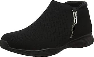 Skechers Womens Seager Ankle Boots, Black (Black Heather Flat Knit BBK), 3.5 (36.5 EU)