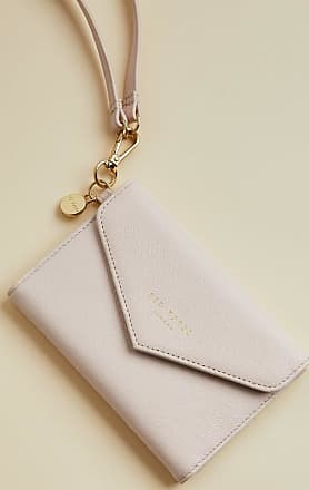 Ted Baker Leather Passport Holder On A Strap in Pale Blue KATIE, Womens Accessories