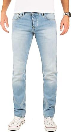 Yazubi Designer Mens Jeans Edvin - Slim Fit New Jeans Big Aqua Light, Blue (Flint Stone 183916), W40/L34