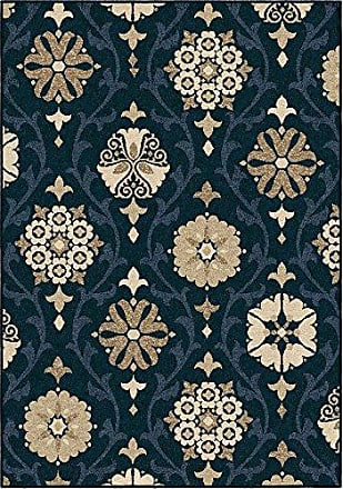 Orian Rugs Four Seasons Indoor/Outdoor Chico Area Rug 52 x 76, Catalina Blue
