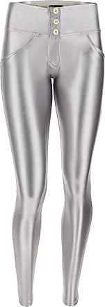 Freddy Womens WR.UP skinny trousers made from opaque metalized faux leather