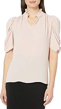 Lark /& Ro con scollo a volant a mezze maniche Marchio blusa da donna in tessuto