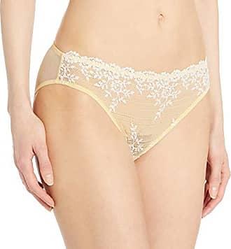 Wacoal Womens Embrace Lace Bikini Panty, Pale Banana/White Alyssum L