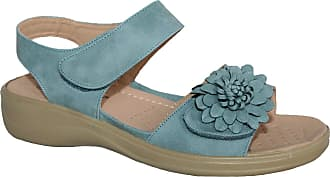 Cushion-Walk Ladies Lightweight Summer Sandal with Touch Close Strap (UK5, Blue)
