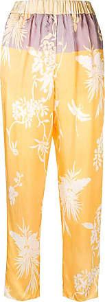 Forte_Forte Calça com estampa floral - Amarelo