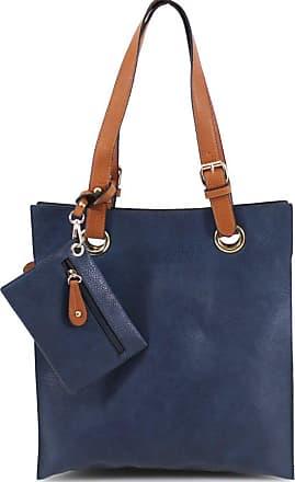 Your Dezire Womens Celebrity Style Designer Frame Tote Bag - Ladies Shoulder Handbag (Navy)