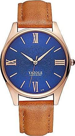 Yazole Relógio de Pulso Yazole W 376 Pulseira de Couro (13)