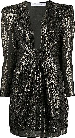 Iro V-neck leopard print dress - Black