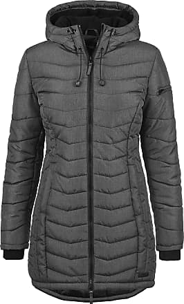 Blend Nelly Womens Quilted Coat Parka Outdoor Jacket with Hood, Size:XXL, Colour:Dark Grey Melange (20044)