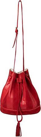 YaYa Bucket Bag aus Leder und Wildleder mit Quaste - One size - Red