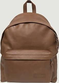 Eastpak Brauner gepolsterter PakR-Rucksack aus Leder - brown | leather | U - Brown/Brown