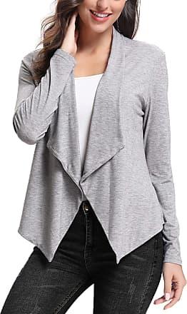 Abollria Cardigans for Women Lightweight Long Sleeve Waterfall Open Front Cardigan Blazer Coat