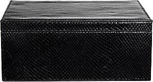 Barneys New York Python-Embossed Large Box - Black