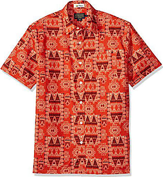 Pendleton Mens Short Sleeve Button Front Surf Print Shirt, red Island Bandana, MD