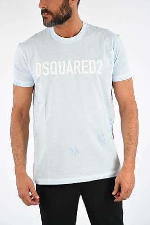 012e616c Dsquared2 Crewneck LONG COOL FIT T-shirt wth Printed Logo size Xl
