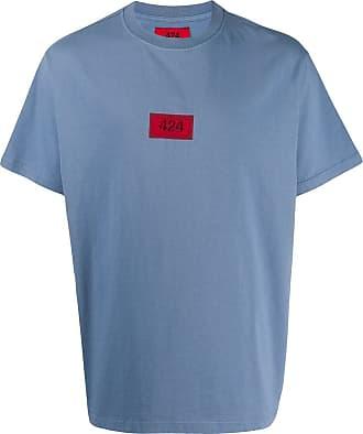 424 T-Shirt mit Logo-Stickerei - Blau