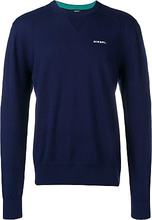 Diesel logo embroidered sweater - Blue