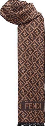 Fendi FF motif knit scarf - Brown